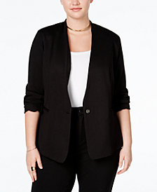 RACHEL Rachel Roy Trendy Plus Size Ponte Blazer