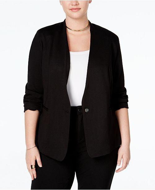 937bd85eab5 RACHEL Rachel Roy RACHEL Rachel Roy Trendy Plus Size Ponte Blazer ...