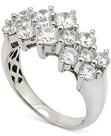 Diamond Cluster Ring (2 ct. t.w.) in 14k White Gold