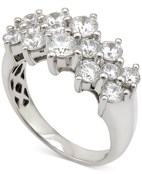 Macy's Diamond Cluster Ring (2 ct. t.w.) in 14k White Gold