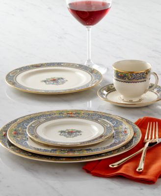 The formal Autumn pattern expresses the joy of gracious living and entertaining in an exquisitely simple design on heirloom-quality ivory bone china banded ... & Lenox Autumn Collection - Fine China - Macyu0027s