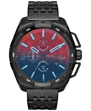 Diesel Men's Chronograph Heavyweight Black Ion-Plated Stainless Steel Bracelet Watch 50x56mm DZ4395