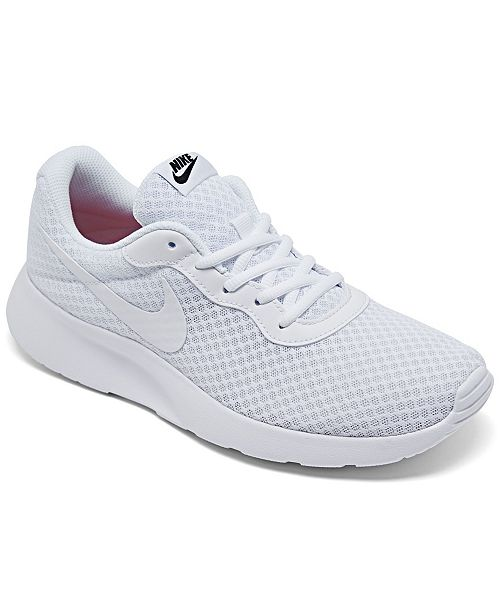 premium selection 4cfec e175a ... Nike Women s Tanjun Casual Sneakers from Finish ...