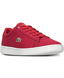 Lacoste Big Boys' Carnaby EVO Canvas Casual Sneakers from Finish Line