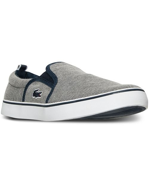 7b81fc3c2 Lacoste Big Boys  Gazon Slip Casual Sneakers from Finish Line ...