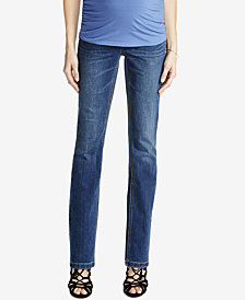 Luxe Essentials Denim Petite Maternity Dark Wash Skinny Jeans