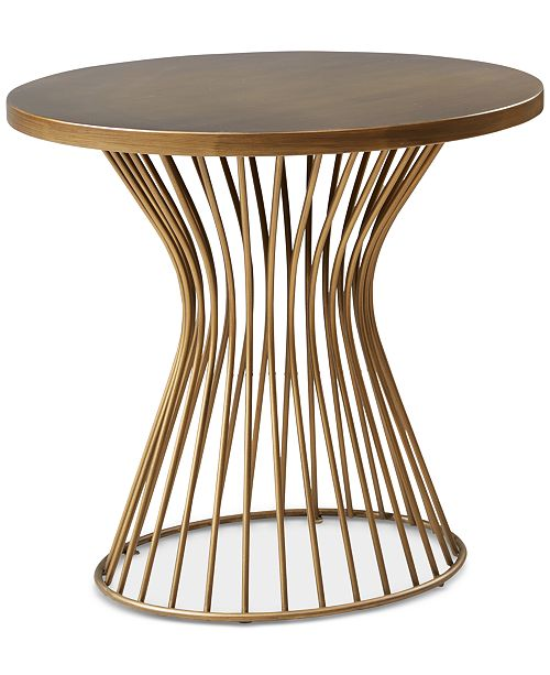 Madison Park Maia End Table, Quick Ship