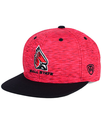 Top of the World Ball State Cardinals Energy 2-Tone Snapback Cap