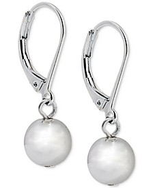 Silver-Tone Metallic Ball Drop Earrings