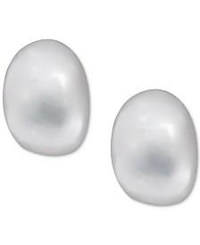 Lauren Ralph Lauren Silver-Tone Button Stud Earrings