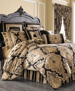 J Queen New York Bradshaw Black Queen 4Pc Comforter Set Bedding
