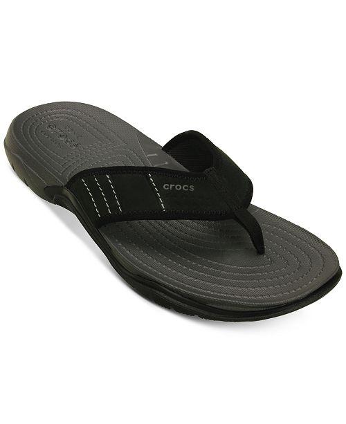 46b1037ee3cd Crocs Men s Swiftwater Flip flop   Reviews - All Men s Shoes - Men ...
