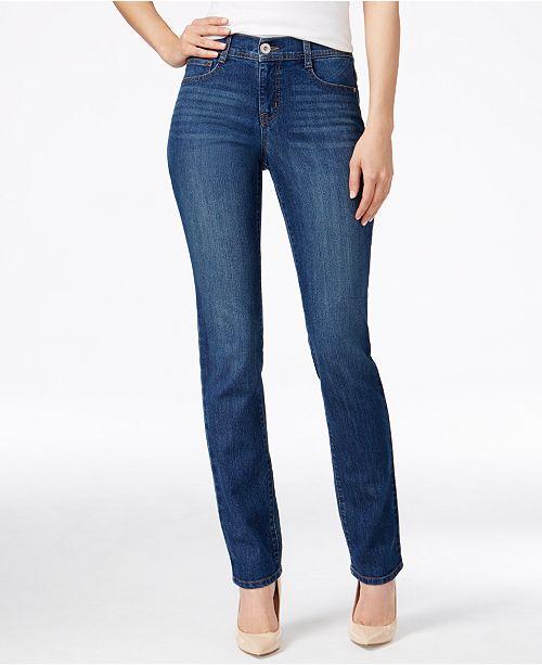 56560b683c3aa ... Style   Co Tummy-Control Slim-Leg Jeans