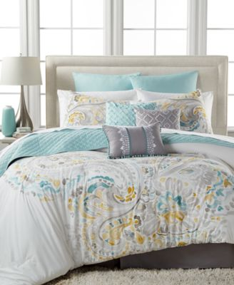 sahar 10pc california king comforter set - Cal King Comforter Sets