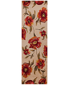 "Kas Catalina 766 Ivory Poppies 2'6"" x 8' Runner Rug"