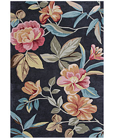 Kas Coral 4156 Charcoal Flor Area Rugs
