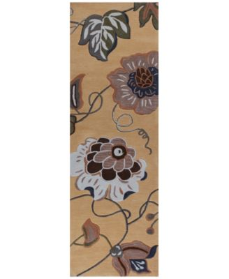 """Coral 4165 Gold Sofia 2'3"""" x 7'6"""" Runner Rug"""