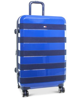 "Rugby Stripe 24""Expandable Hardside Spinner Suitcase"