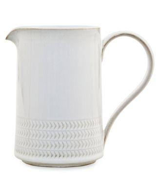 Natural Canvas Stoneware Textured Medium Jug