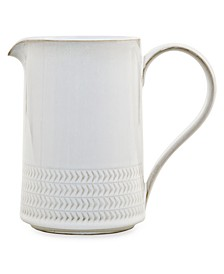 Natural Canvas Stoneware Textured Medium Jug