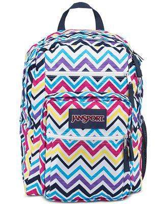 Jansport Big Student Backpack in Multi Saucy Chevron - Backpacks ...