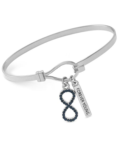 """BCBGeneration Silver-Tone """"Forever Young"""" Infinity Bangle Bracelet"""