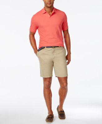Club Room Men's Estate Flat-Front Shorts with Belt 9