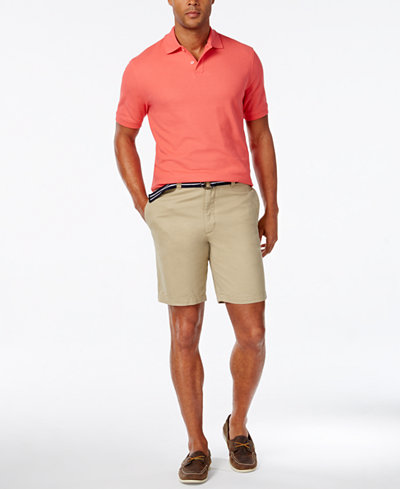 Club Room Men's Estate Performance Polo and Flat-Front Shorts, Created for Macy's