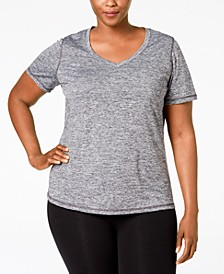 Plus Size Rapidry V-Neck Performance T-Shirt, Created for Macy's