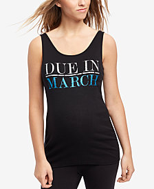 Motherhood Maternity Due-Date Graphic Tank Top