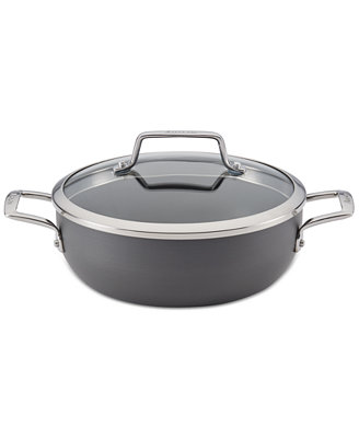 Authority Hard Anodized 3.5 Qt. Round Casserole With Lid by Anolon