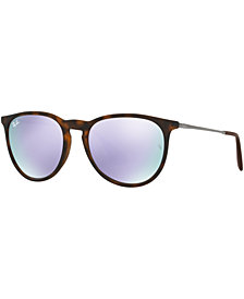 Ray-Ban ERIKA MIRRORED Sunglasses, RB4171 54, Created for Macy's