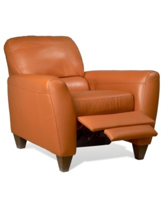Furniture Almafi Leather Pushback Recliner; Furniture Almafi Leather  Pushback Recliner ...