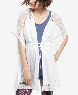 Motherhood Maternity Tie-Front Crochet-Trim Top plus size,  plus size fashion plus size appare