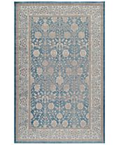 CLOSEOUT! Momeni Voyage Agra Blue Area Rugs