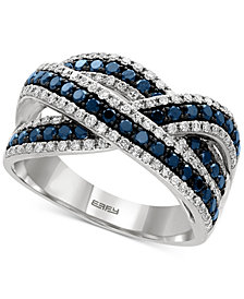 EFFY® Blue and White Diamond Ring (1 ct. t.w.) in 14k White Gold