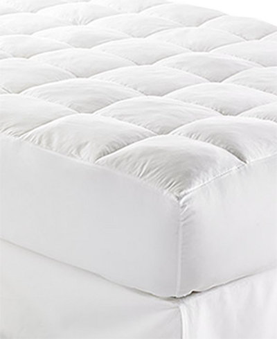 "CLOSEOUT! Lauren Ralph Lauren Lux-Loft™ Queen Mattress Pad with 17"" Stretch Skirt, Certified Asthma and Allergy Friendly™"