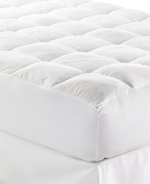 "Lauren Ralph Lauren  CLOSEOUT! Lux-Loft™ California King Mattress Pad with 17"" Stretch Skirt, Certified Asthma and Allergy Friendly™"