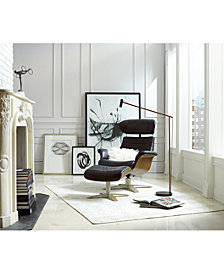 Annaldo Leather Swivel Chair & Ottoman Collection