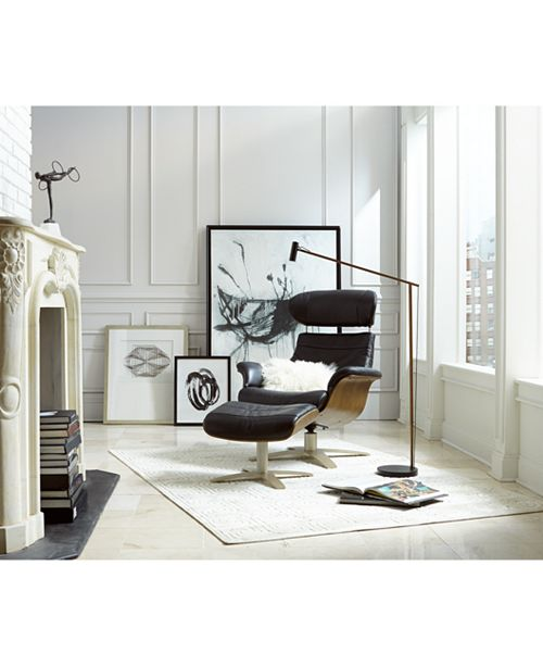 furniture annaldo leather swivel chair ottoman collection