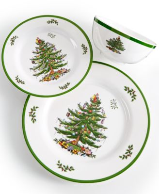 Christmas Tree Melamine Bowl, Set of 4