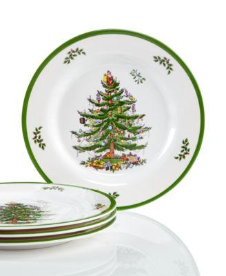 Christmas Tree Set/4  Melamine Salad Plate