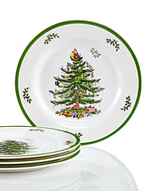 Spode Christmas Tree Set/4  Melamine Salad Plate