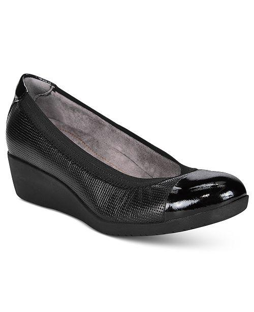 75aa6fd3676b Clarks Women s Petula Sadie Wedges   Reviews - Pumps - Shoes ...