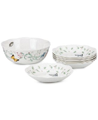 Dinnerware Butterfly Meadow 7 Piece Pasta/Salad Set  sc 1 st  Macyu0027s & Lenox Dinnerware Butterfly Meadow Collection - Dinnerware - Dining ...