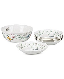 Butterfly Meadow 7 Piece Pasta/Salad Set