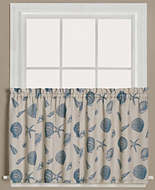 "Saturday Knight Seychelles Graphic-Print Pair of 29"" x 36"" Tier Curtains"