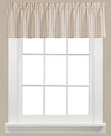 "Saturday Knight Hopscotch Check 58"" x 13"" Valance"