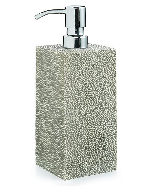 Hotel Collection CLOSEOUT! Shagreen Lotion Dispenser, Created for Macy's