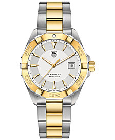 TAG Heuer Men's Swiss Aquaracer Two-Tone Stainless Steel Bracelet Watch 41mm